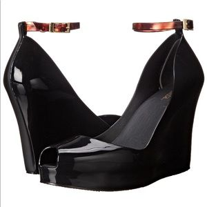 Melissa Patchuli Wedges- black jelly size 7